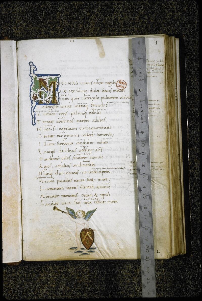 Lyon, Bibl. mun., ms. 5514, f. 001 - vue 1