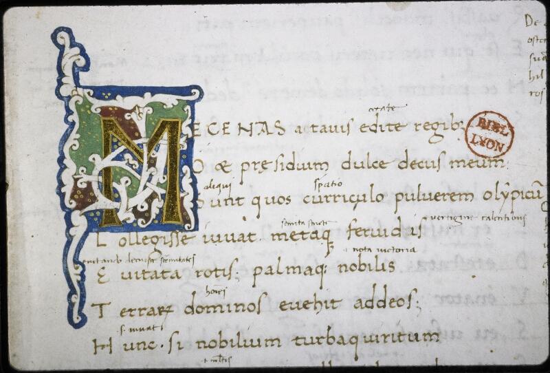 Lyon, Bibl. mun., ms. 5514, f. 001 - vue 3