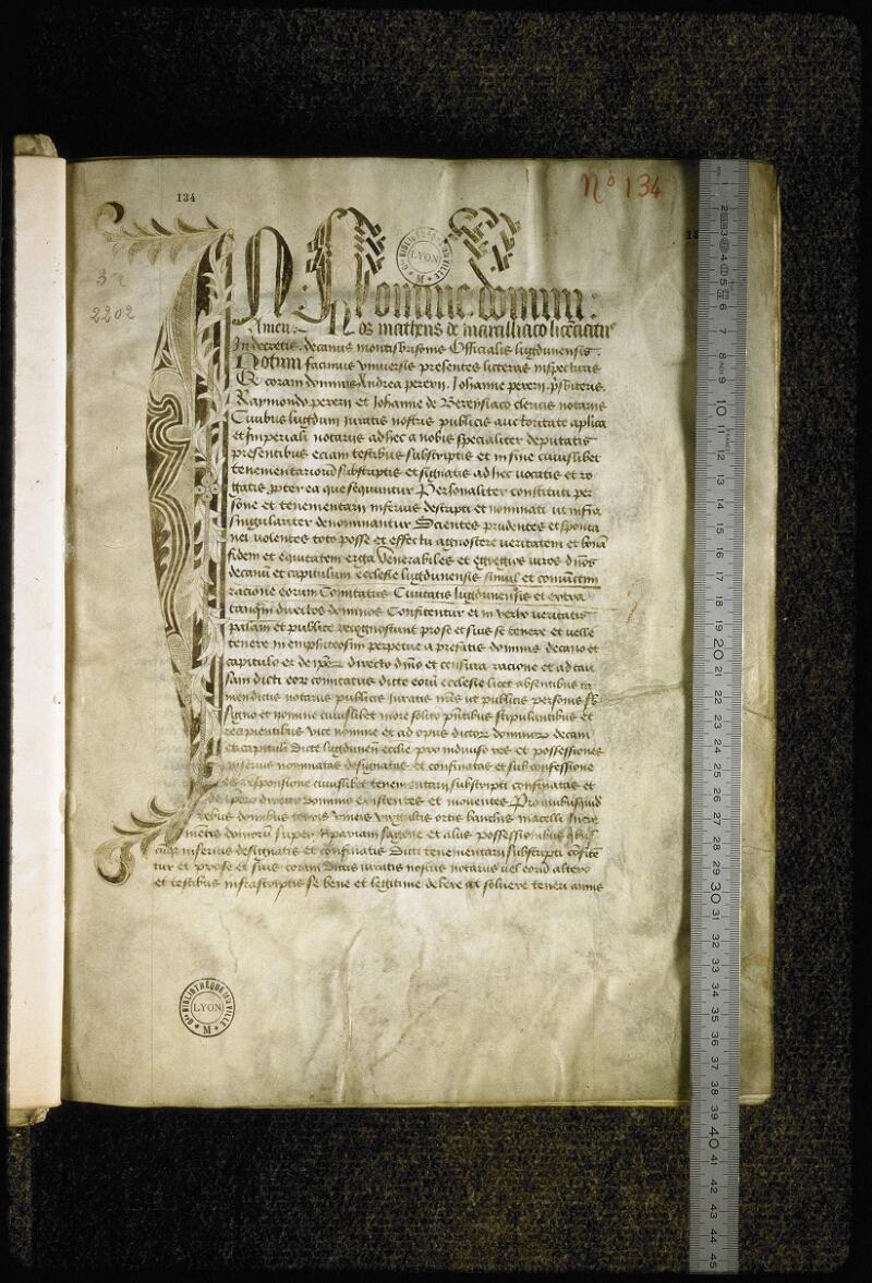 Lyon, Bibl. mun., ms. Coste 0134, f. 001 - vue 1