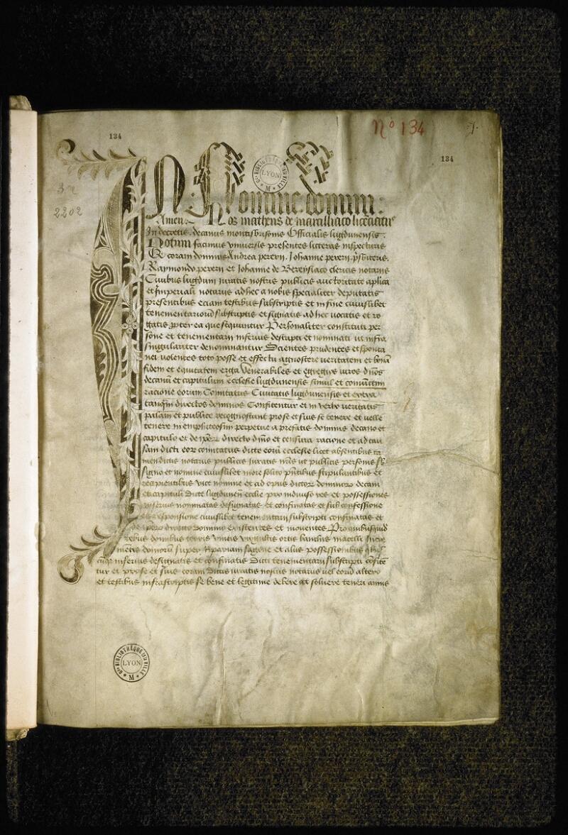 Lyon, Bibl. mun., ms. Coste 0134, f. 001 - vue 2