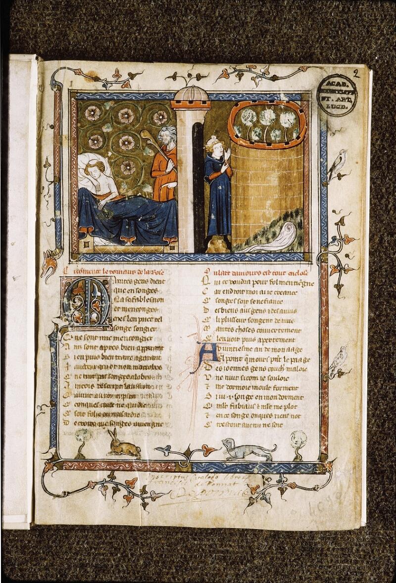Lyon, Bibl. mun., ms. Palais des Arts 023, f. 002 - vue 2