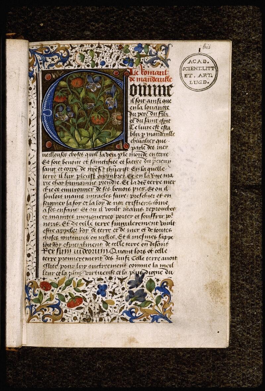 Lyon, Bibl. mun., ms. Palais des Arts 028, f. 001 bis - vue 2