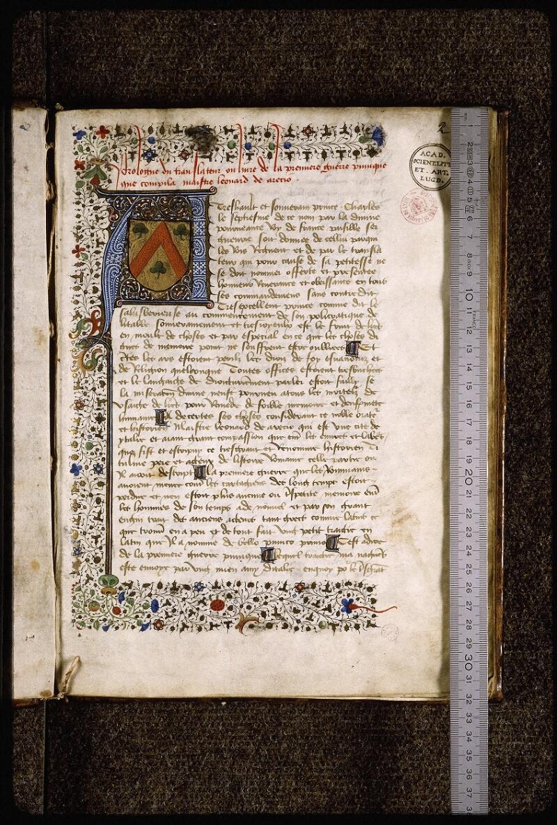 Lyon, Bibl. mun., ms. Palais des Arts 031, f. 002 - vue 1