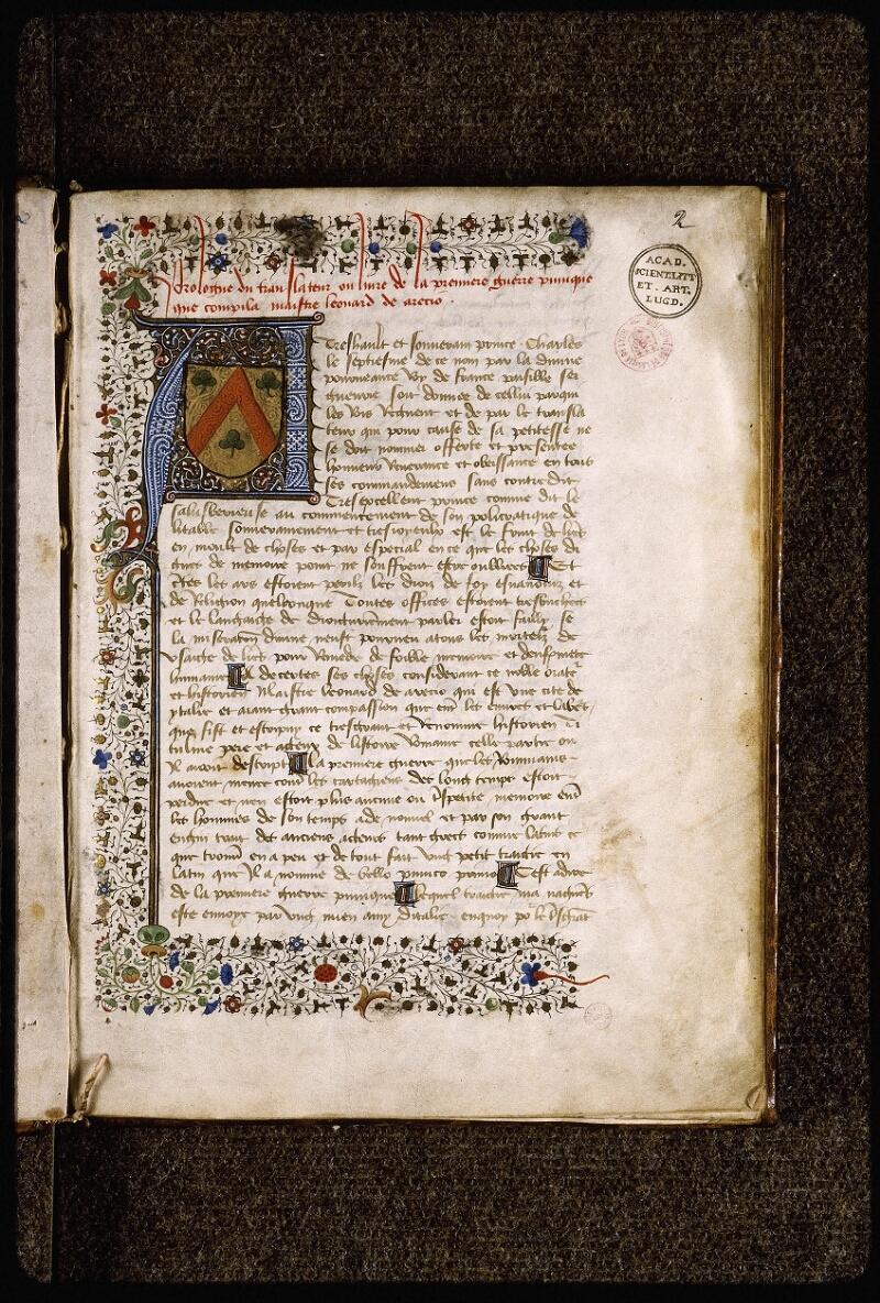Lyon, Bibl. mun., ms. Palais des Arts 031, f. 002 - vue 2