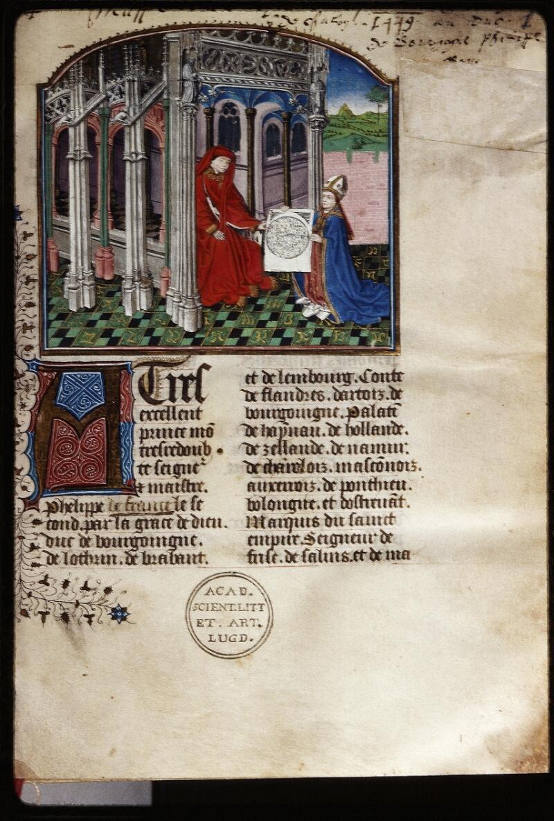 Lyon, Bibl. mun., ms. Palais des Arts 032, f. 001 - vue 1
