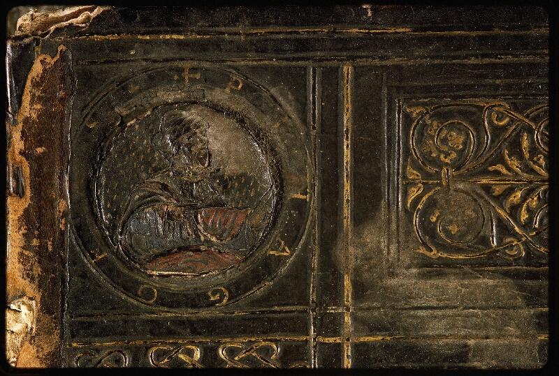 Lyon, Bibl. mun., ms. Palais des Arts 047, reliure plat sup. - vue 3