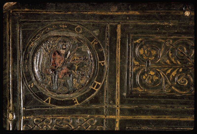 Lyon, Bibl. mun., ms. Palais des Arts 047, reliure plat inf. - vue 3