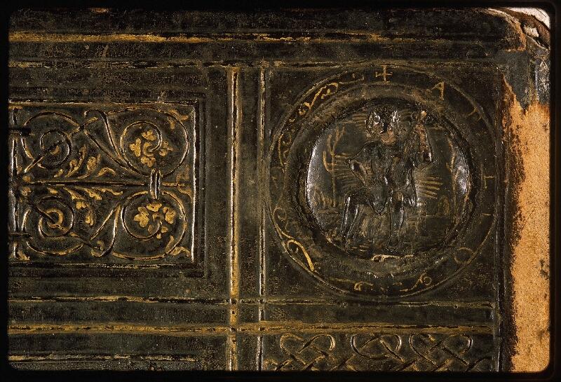 Lyon, Bibl. mun., ms. Palais des Arts 047, reliure plat inf. - vue 4
