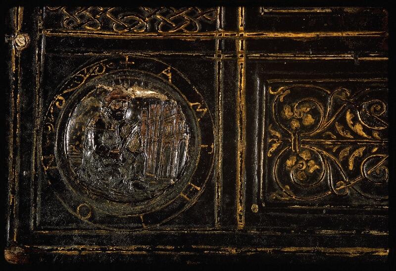 Lyon, Bibl. mun., ms. Palais des Arts 047, reliure plat inf. - vue 5
