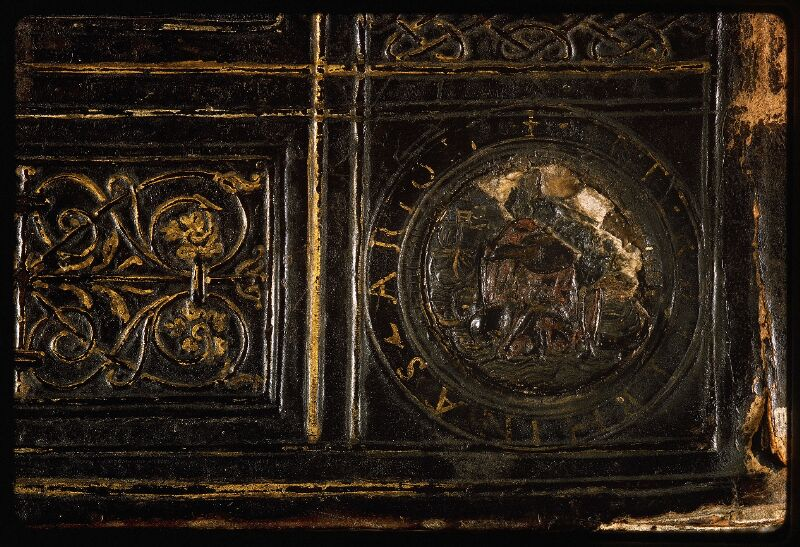 Lyon, Bibl. mun., ms. Palais des Arts 047, reliure plat inf. - vue 6
