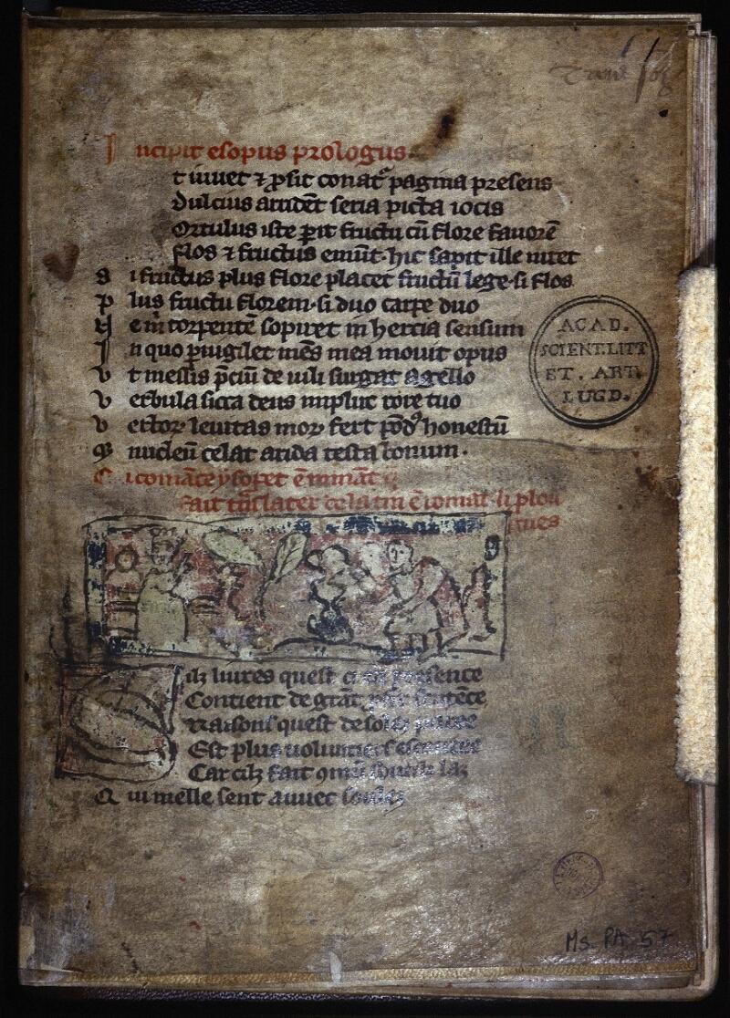 Lyon, Bibl. mun., ms. Palais des Arts 057, f. 001 - vue 1