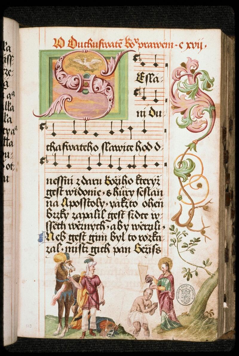 Prague, Musée nat., Bibl., I. A. 16, f. 103 - vue 1