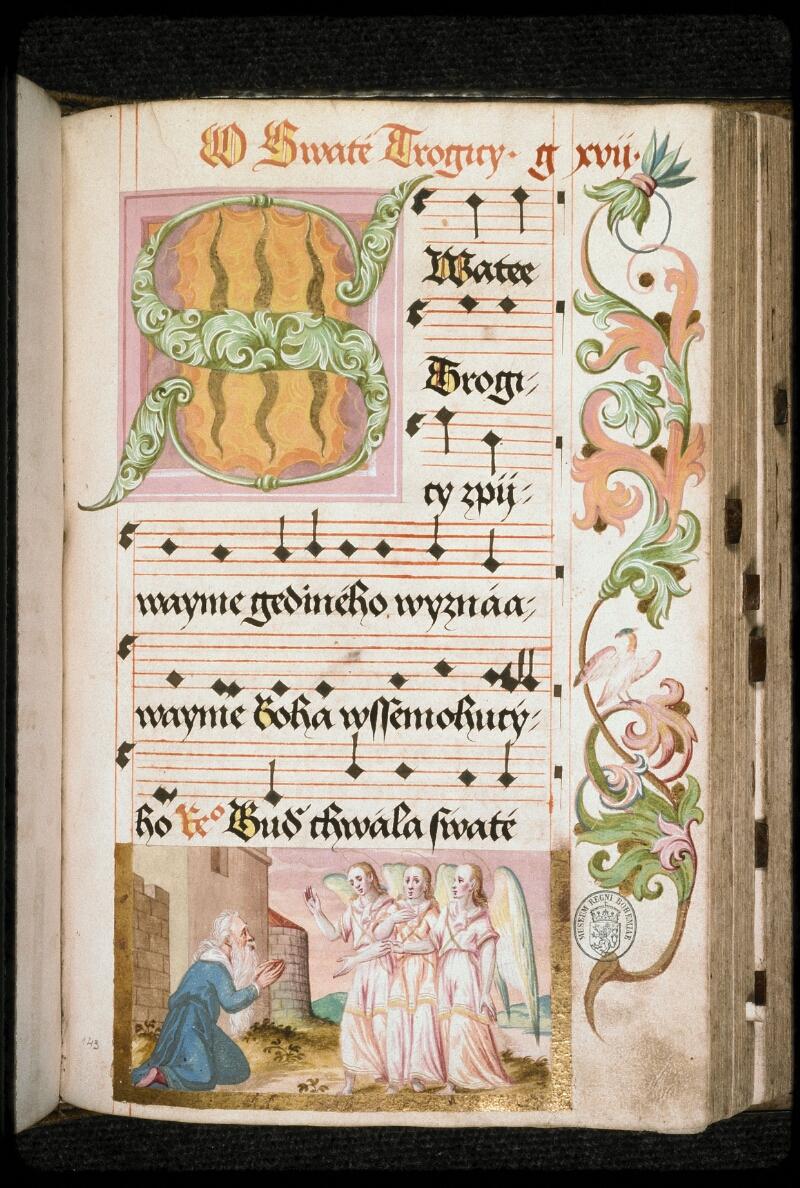 Prague, Musée nat., Bibl., I. A. 16, f. 143 - vue 1