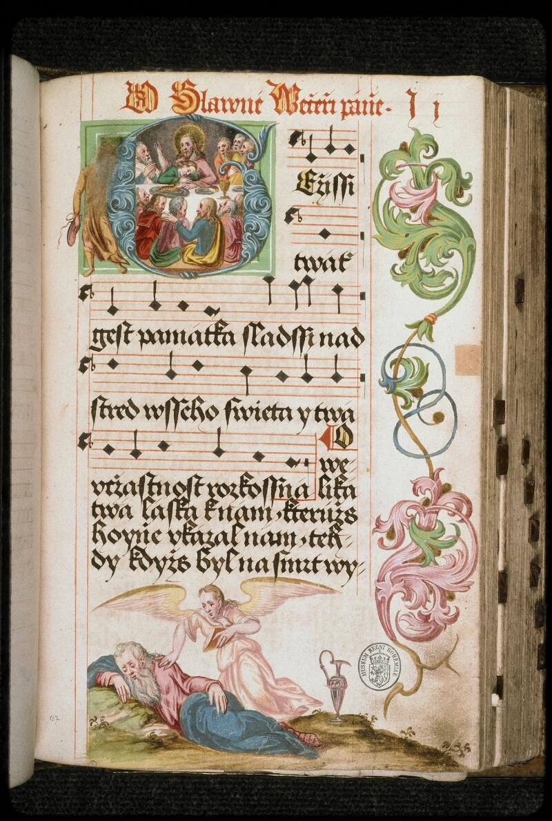 Prague, Musée nat., Bibl., I. A. 16, f. 167 - vue 1
