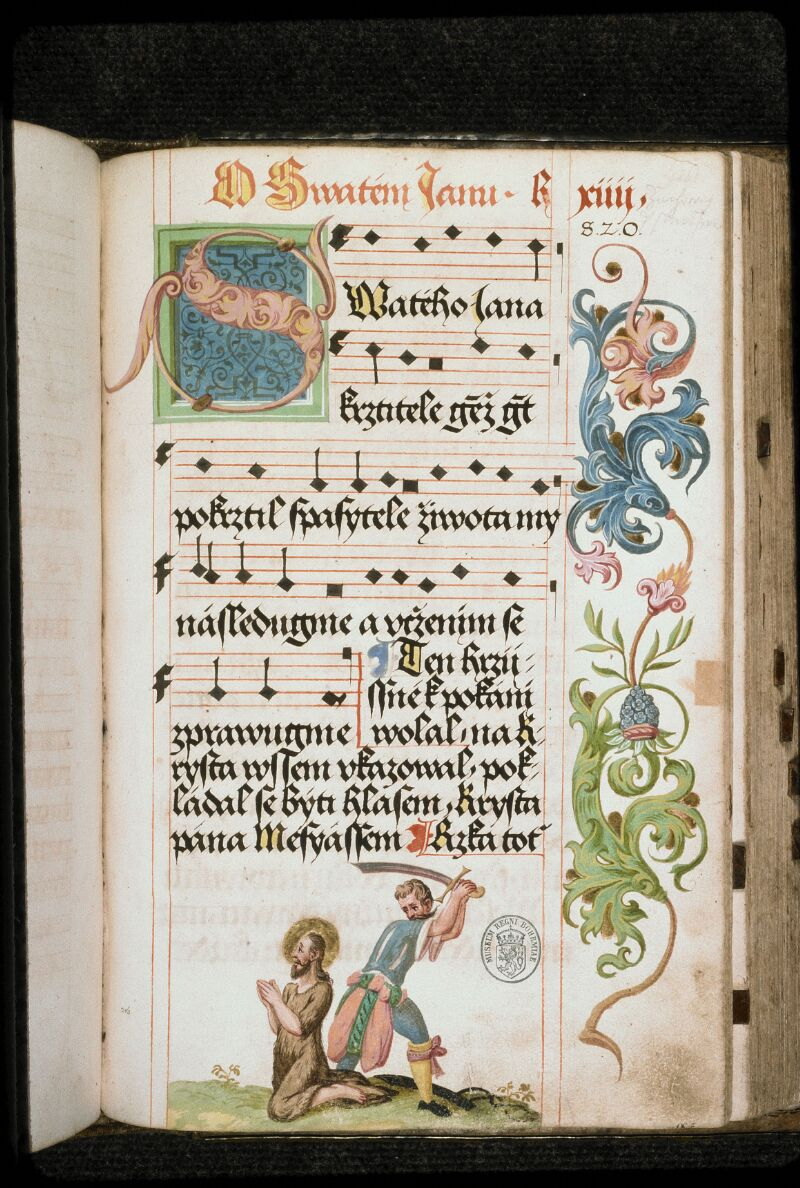 Prague, Musée nat., Bibl., I. A. 16, f. 216 - vue 1