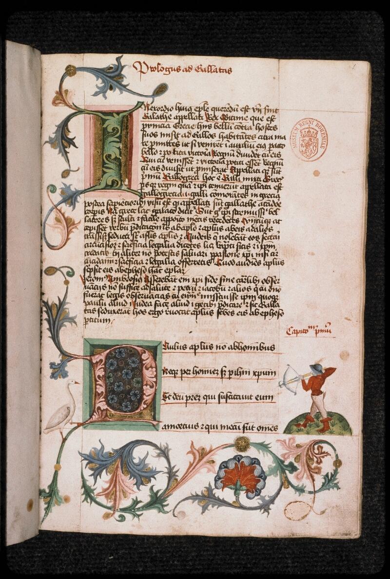 Prague, Musée nat., Bibl., II. D. 01 b, f. 001 - vue 2