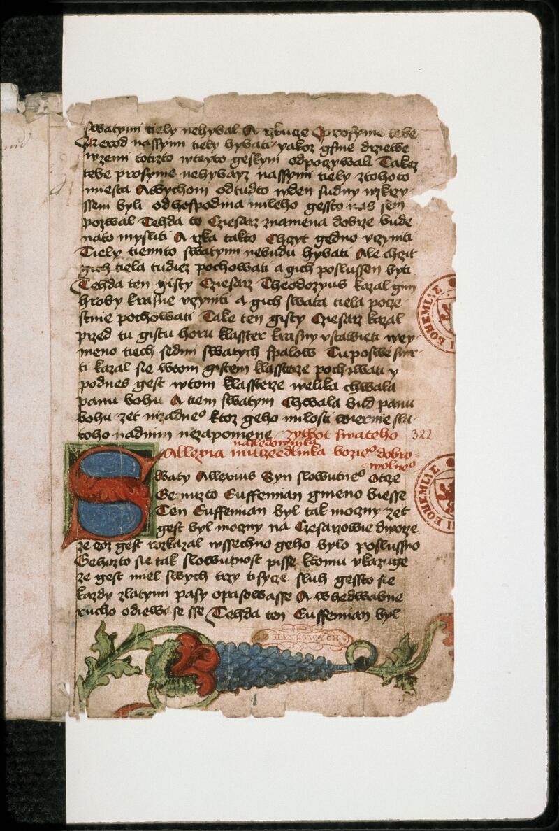 Prague, Musée nat., Bibl., II. F. 09, f. 001 - vue 2