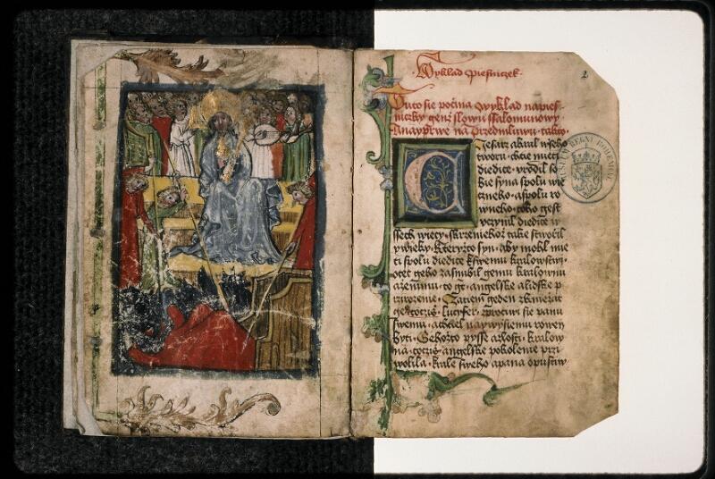 Prague, Musée nat., Bibl., II. H. 21, f. 001v-002 - vue 2