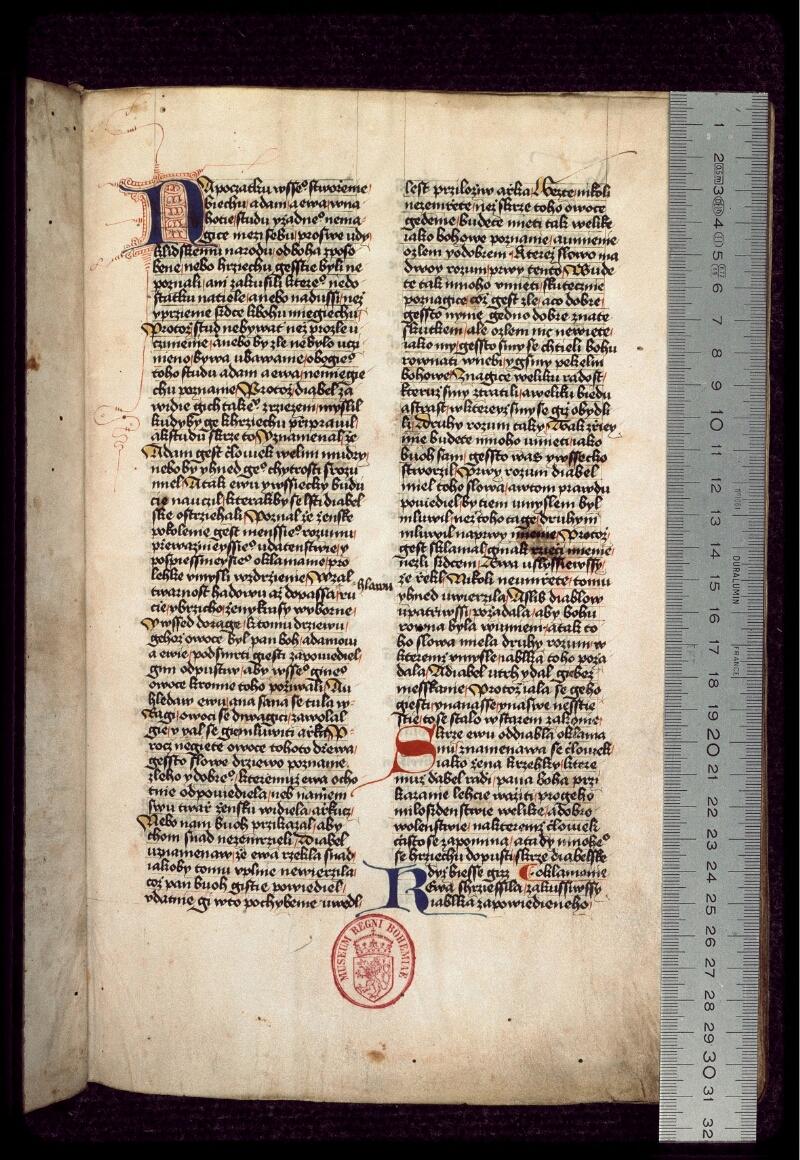 Prague, Musée nat., Bibl., III. B. 10, f. 001 - vue 1
