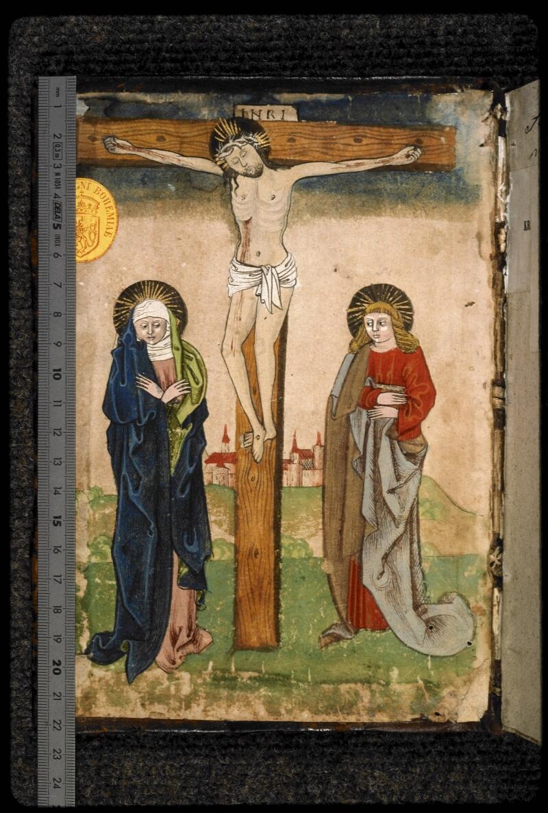 Prague, Musée nat., Bibl., III. E. 47, contre-plat sup. - vue 1