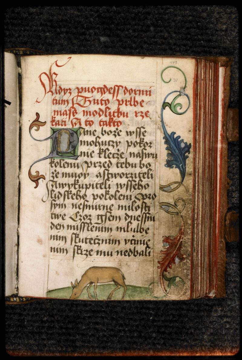 Prague, Musée nat., Bibl., III. H. 37, f. 173