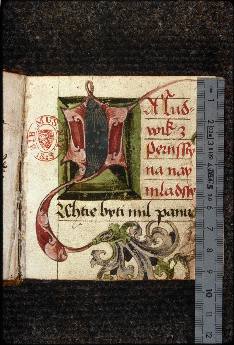 Prague, Musée nat., Bibl., V. H. 30, f. 001 - vue 1