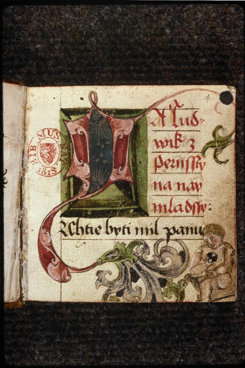 Prague, Musée nat., Bibl., V. H. 30, f. 001 - vue 2