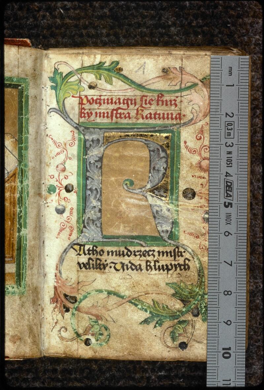 Prague, Musée nat., Bibl., V. H. 40, f. 001 - vue 1