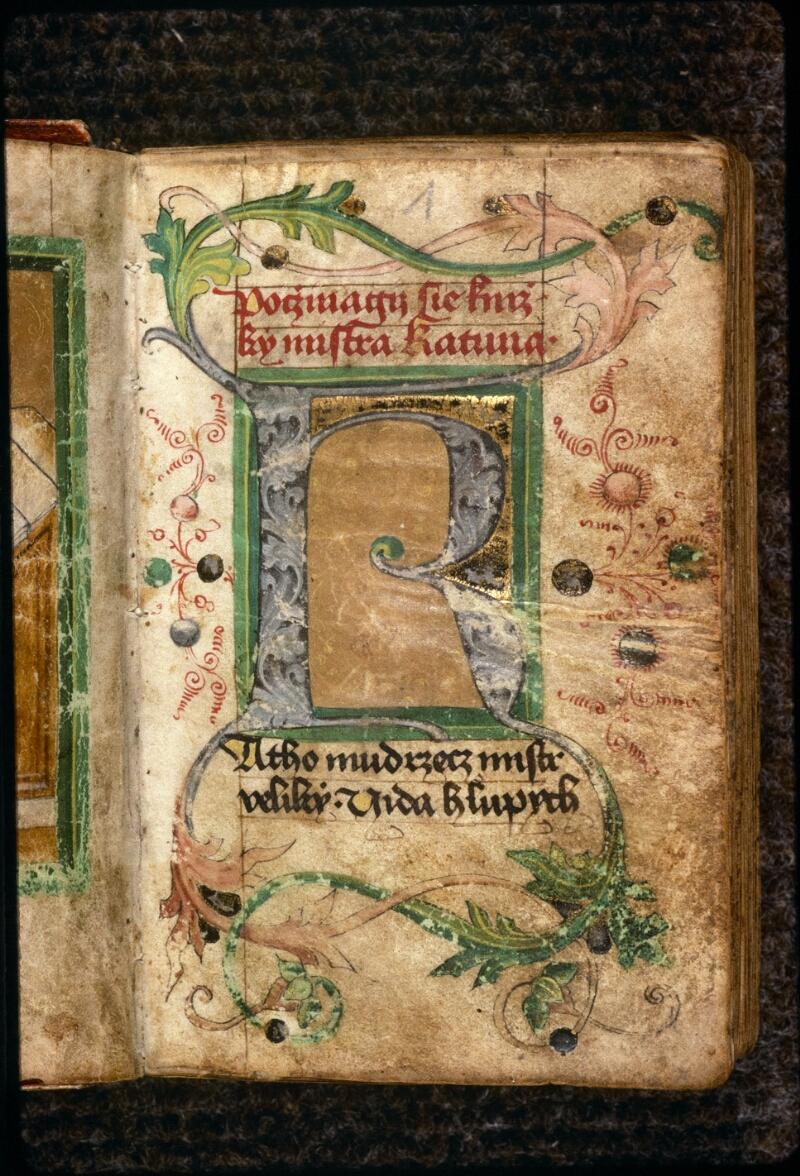 Prague, Musée nat., Bibl., V. H. 40, f. 001 - vue 2