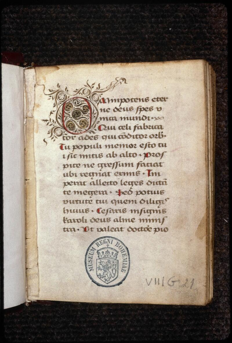 Prague, Musée nat., Bibl., VIII. G. 21, f. 001 - vue 2