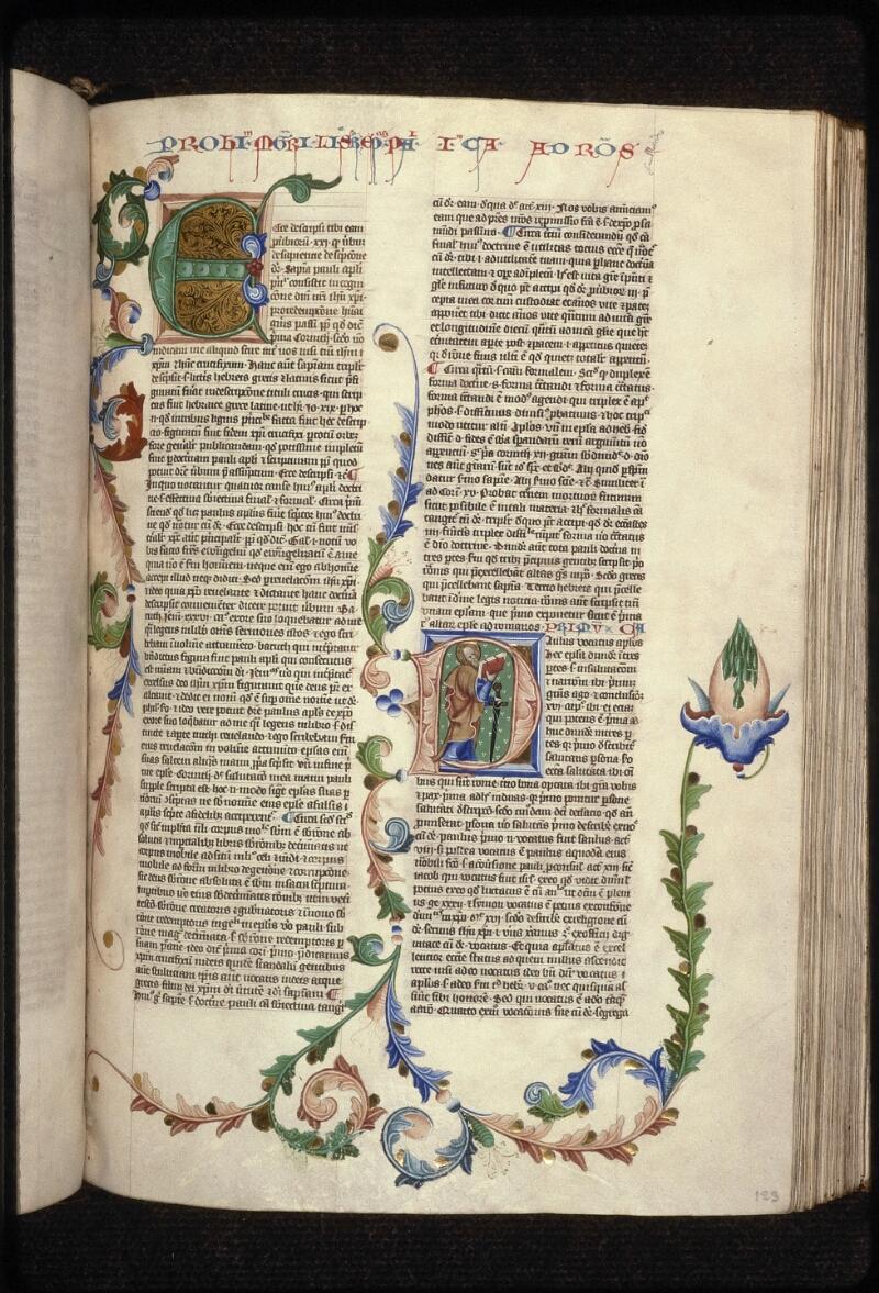 Prague, Musée nat., Bibl., XII. A. 17, f. 123 - vue 1