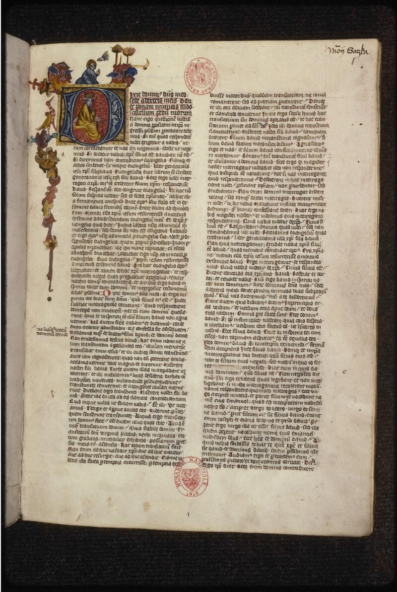 Prague, Musée nat., Bibl., XII. B. 15, f. 001 - vue 2