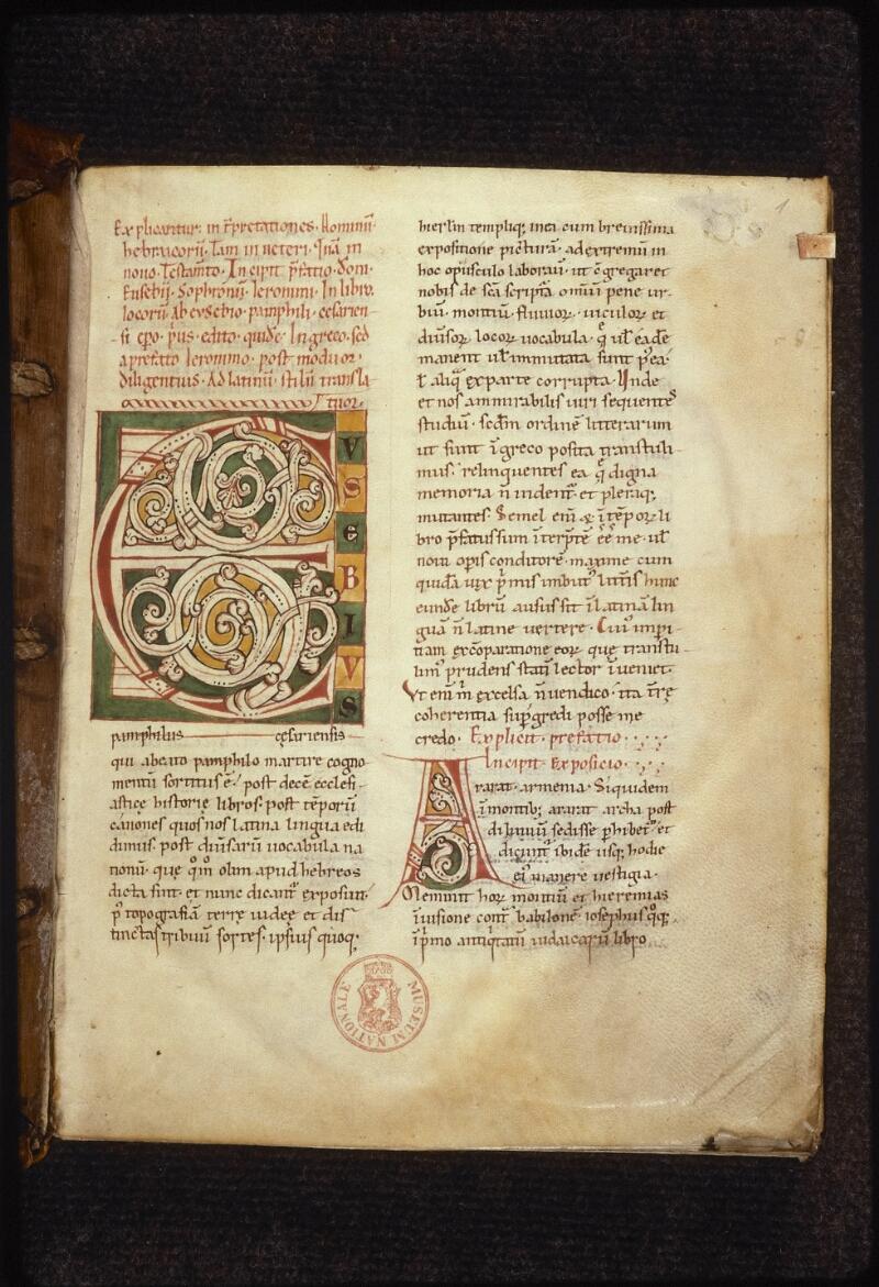 Prague, Musée nat., Bibl., XII. D. 15, f. 001 - vue 2
