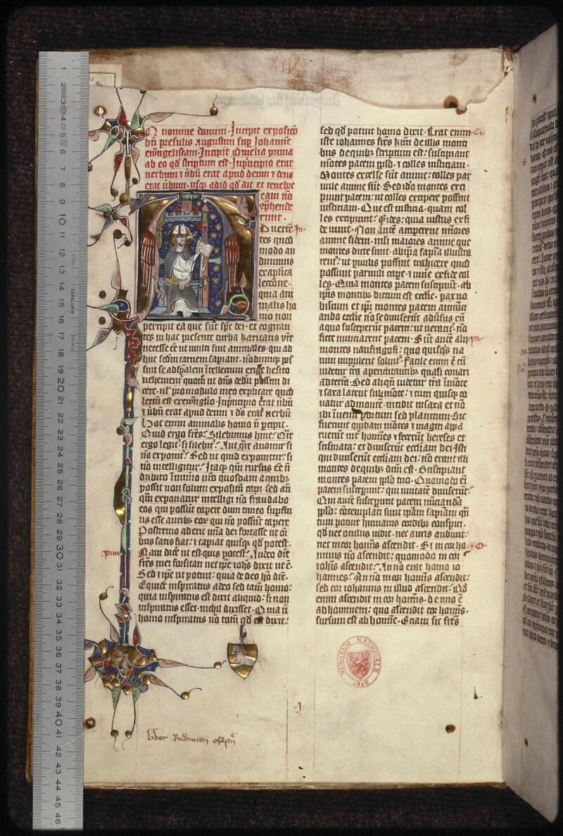 Prague, Musée nat., Bibl., XIII. A. 13, f. 001v - vue 1