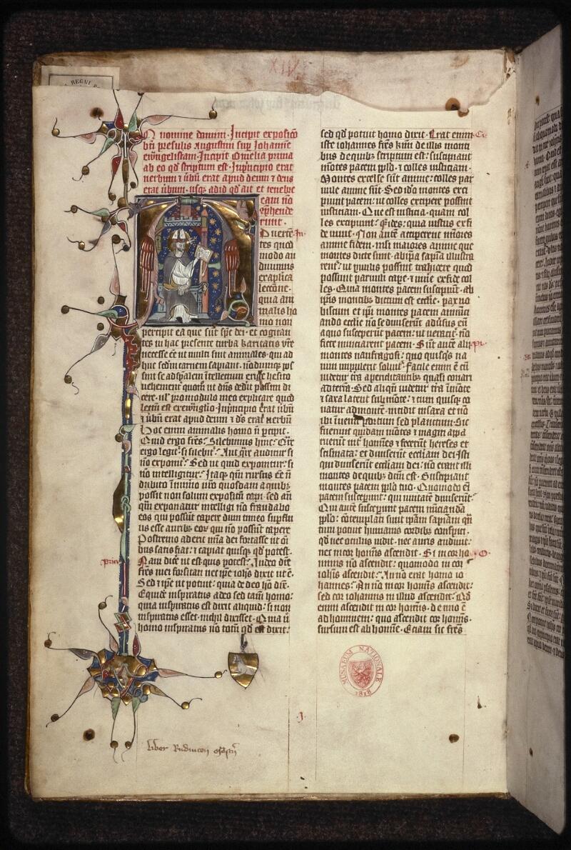 Prague, Musée nat., Bibl., XIII. A. 13, f. 001v - vue 2