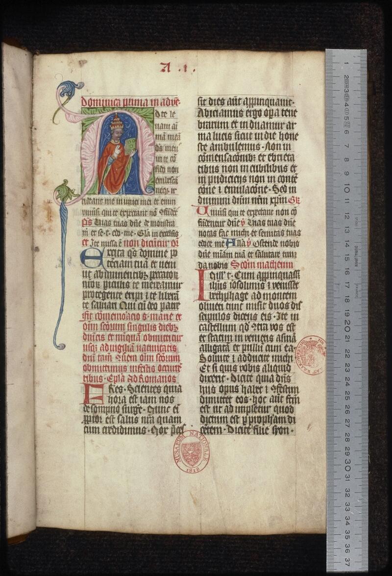 Prague, Musée nat., Bibl., XIV. A. 01, f. 007 - vue 1