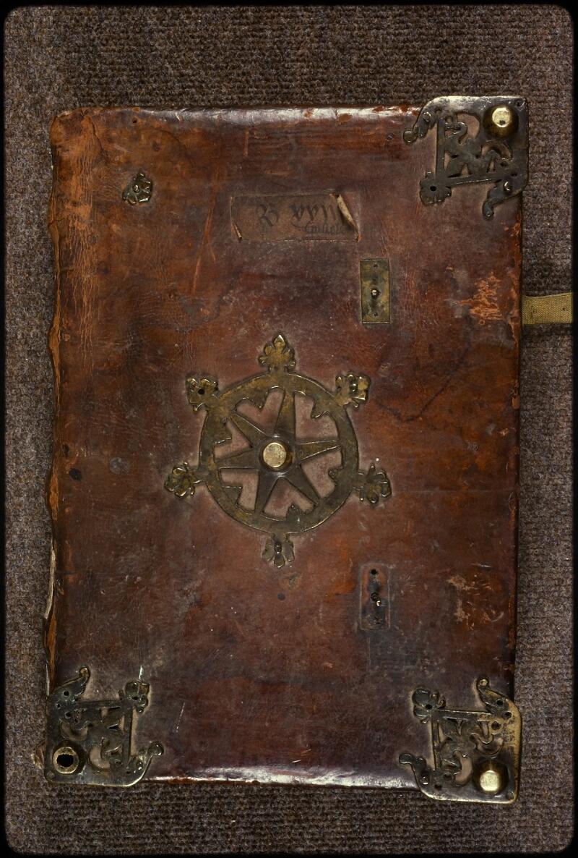 Prague, Musée nat., Bibl., XIV. A. 09, reliure plat sup.
