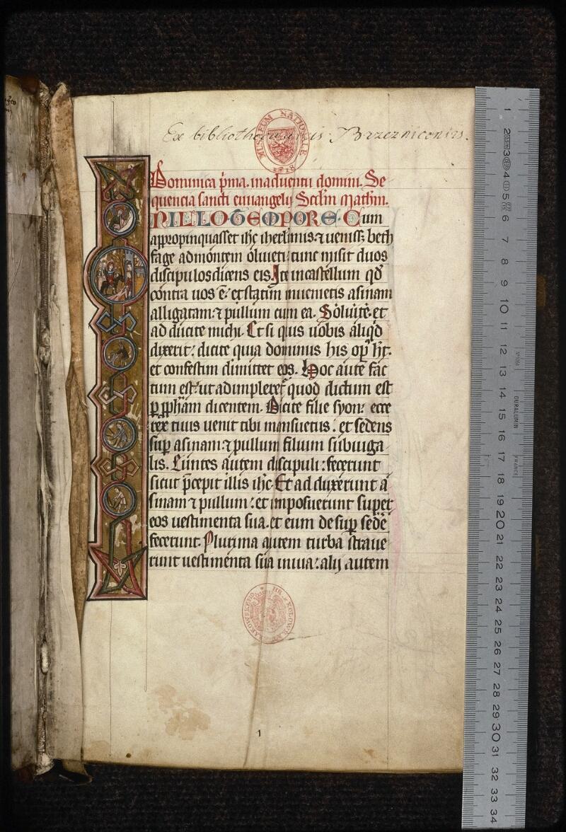 Prague, Musée nat., Bibl., XIV. A. 10, f. 001 - vue 1
