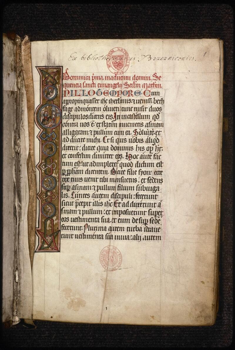 Prague, Musée nat., Bibl., XIV. A. 10, f. 001 - vue 2
