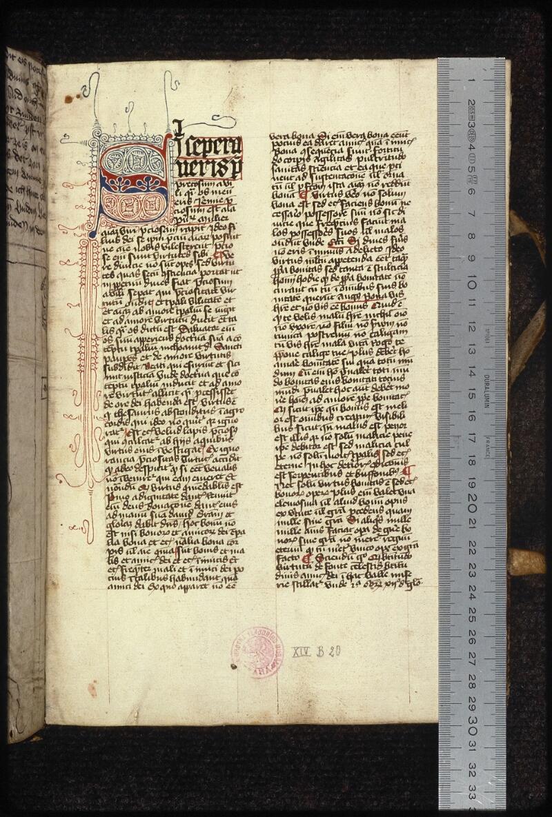 Prague, Musée nat., Bibl., XIV. B. 20, f. 001 - vue 1