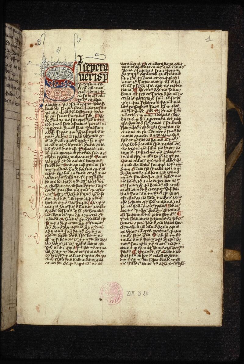 Prague, Musée nat., Bibl., XIV. B. 20, f. 001 - vue 2