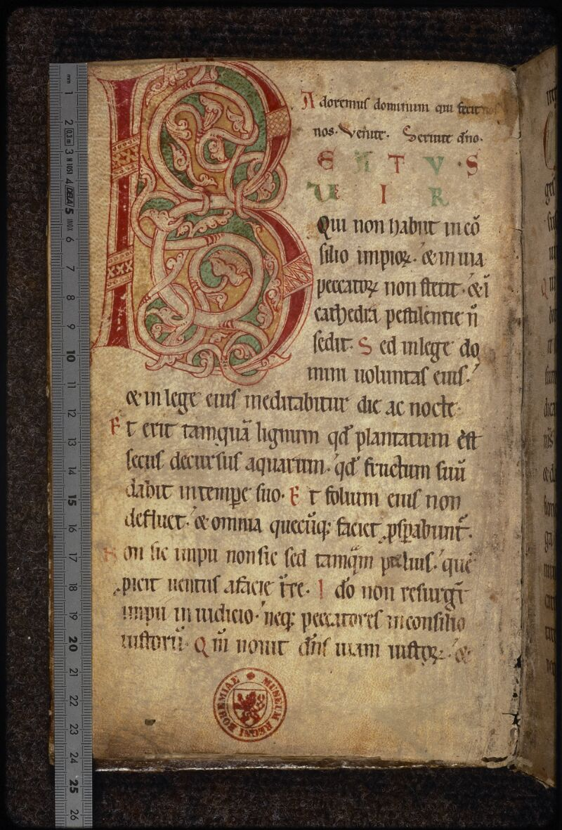 Prague, Musée nat., Bibl., XIV. D. 13, f. 006v - vue 1