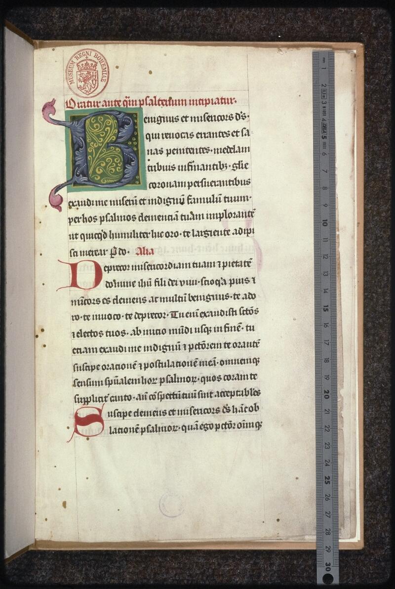 Prague, Musée nat., Bibl., XV. D. 17, f. 001 - vue 1
