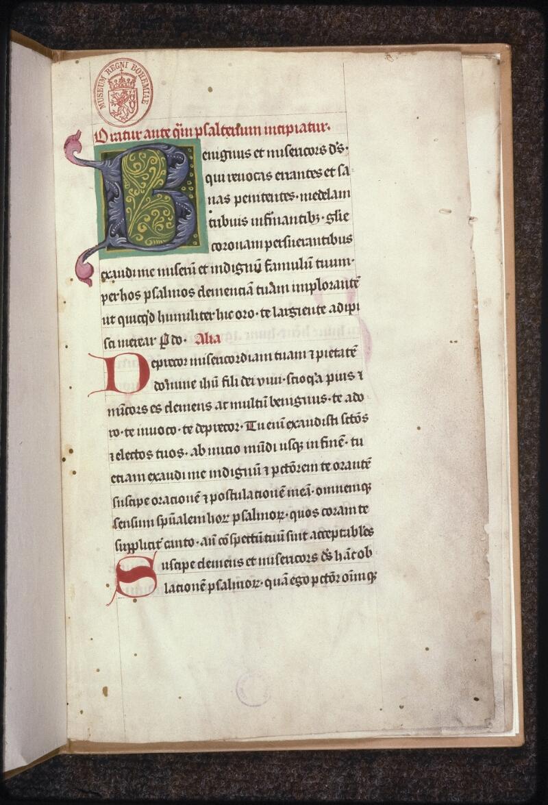Prague, Musée nat., Bibl., XV. D. 17, f. 001 - vue 2