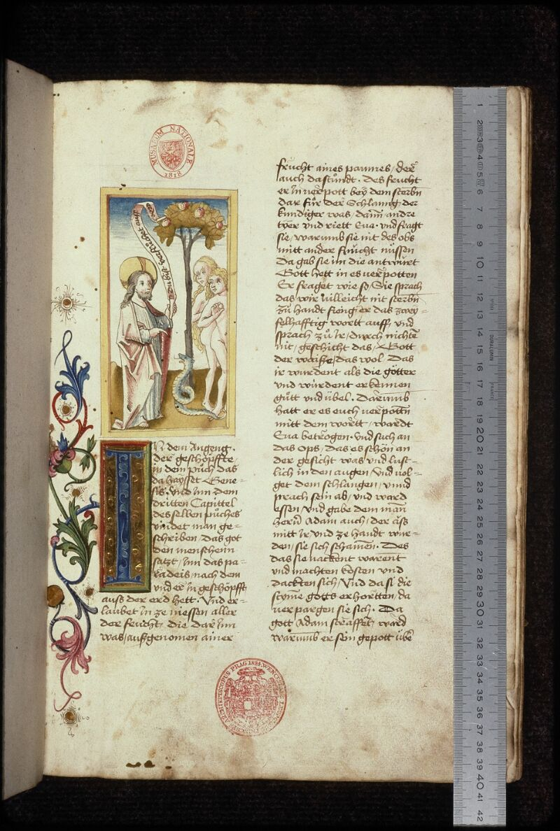 Prague, Musée nat., Bibl., XVI. A. 06, f. 001 - vue 1