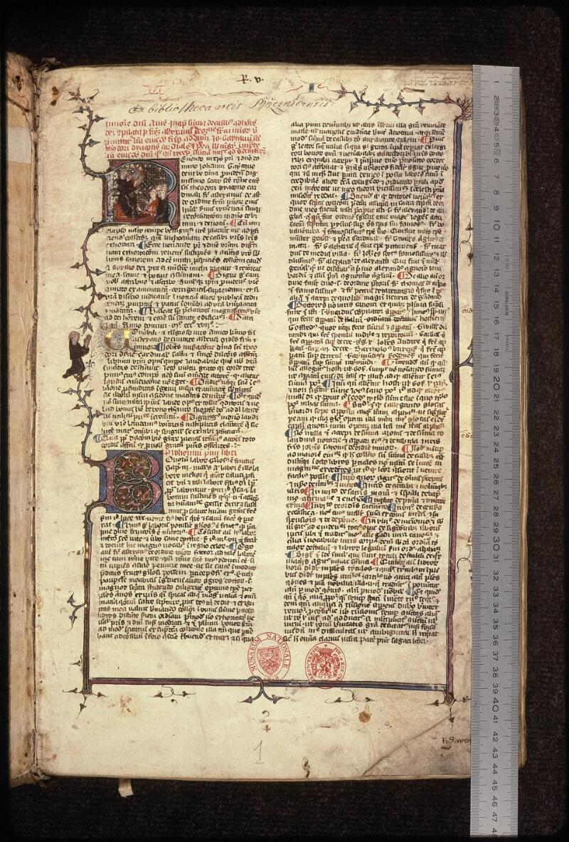 Prague, Musée nat., Bibl., XVII. A. 04, f. 001 - vue 1