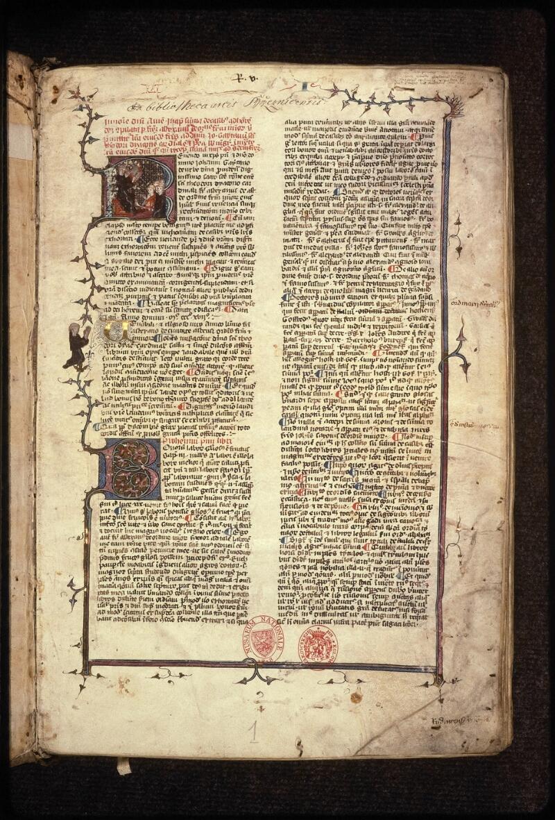Prague, Musée nat., Bibl., XVII. A. 04, f. 001 - vue 2