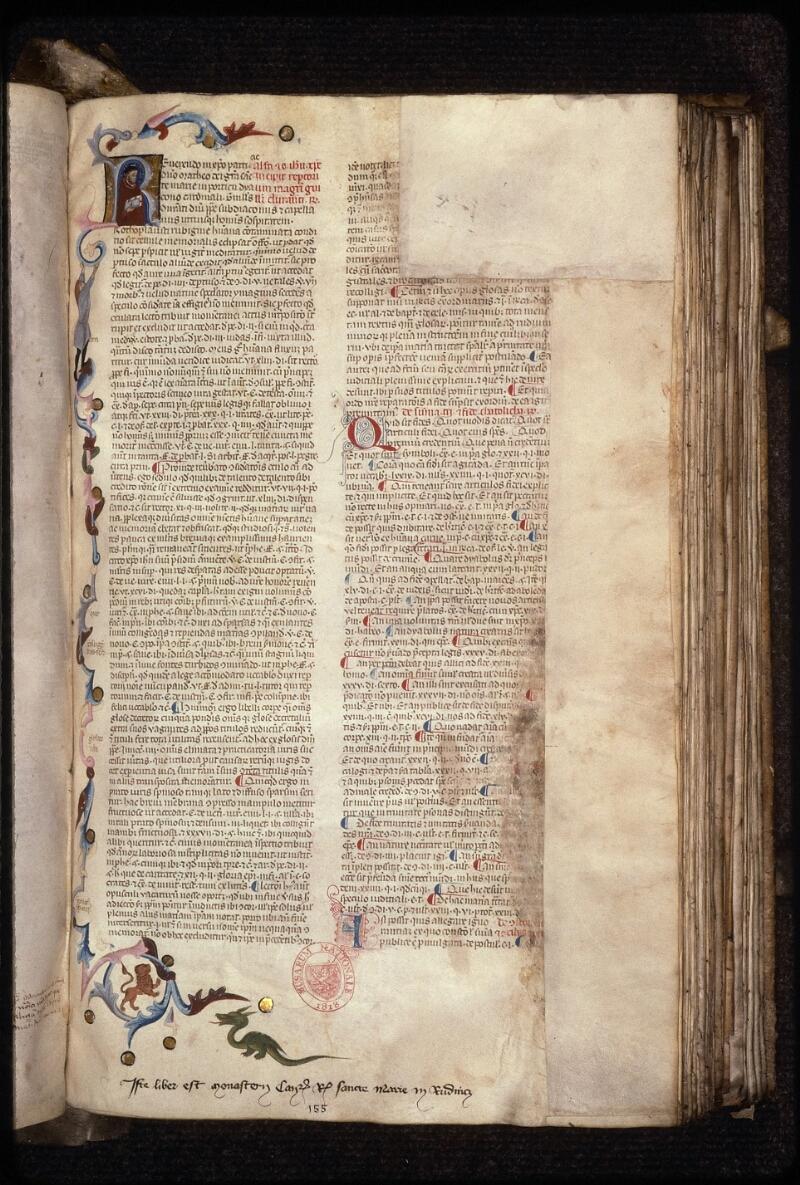Prague, Musée nat., Bibl., XVII. A. 05, f. 155 - vue 1