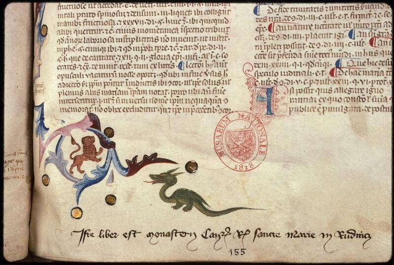 Prague, Musée nat., Bibl., XVII. A. 05, f. 155 - vue 3