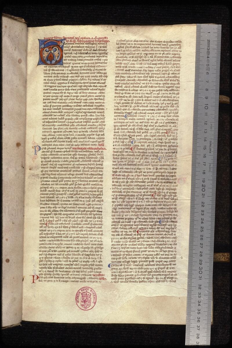 Prague, Musée nat., Bibl., XVII. B. 09, f. 001 - vue 1